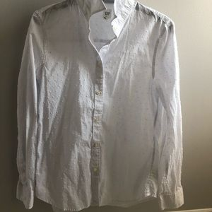 Gap White Size Small dotted blouse